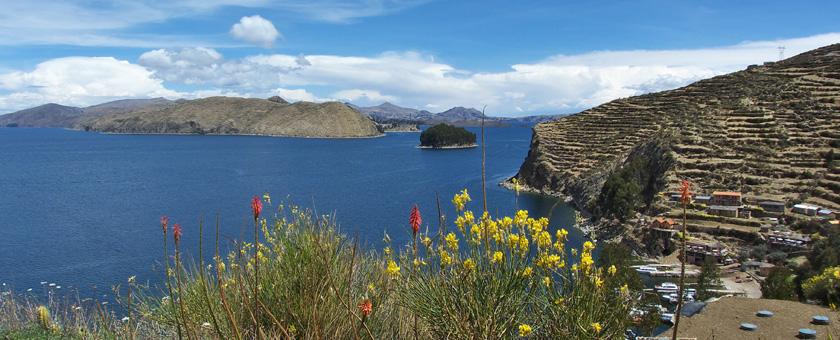 Lacul Titicaca vazut de pe Isla del Sol, Bolivia Poza realizata de Ana Gherasim, august 2015