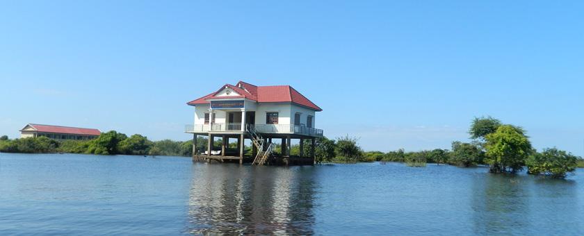 Lacul Tonle Sap Cambodgia