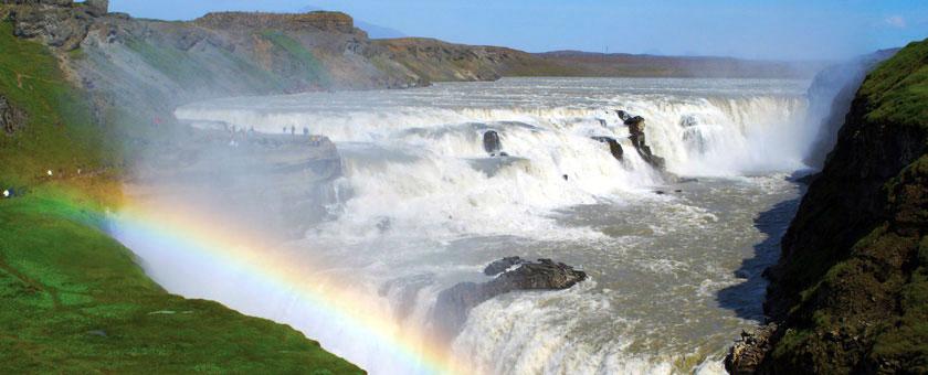 Golden Circle: Cascada Gulfoss, Islanda Poza realizata de Daniela Shah, august 2008