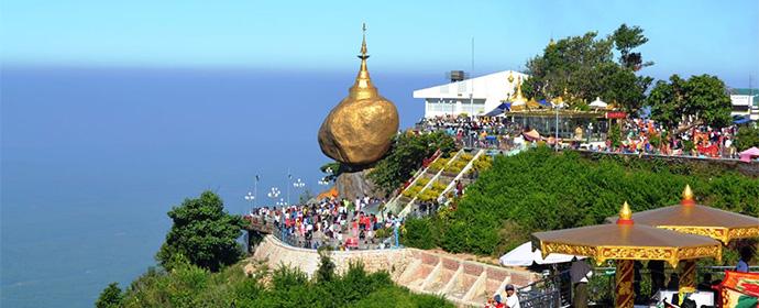 Pagoda Golden Rock Myanmar